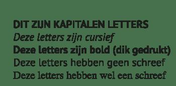 Toelichting gebruik Fonts bij logo ontwerp